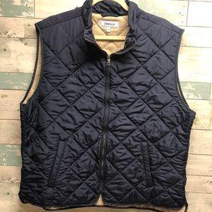 Crown & Ivy Navy Men's Quilted Vest